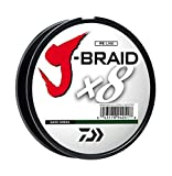 Daiwa J-Braid 150M 8-Strand Woven Round Braid Line, Dark Green, 15 lb