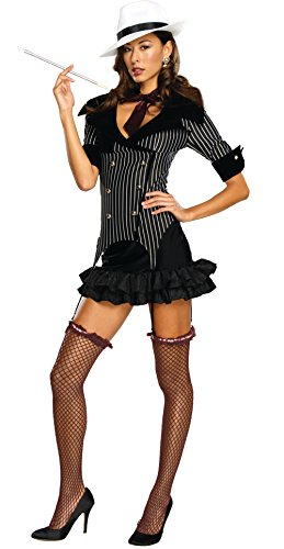 Rubie's Adult's Medium 6-10 Sexy 1920s Gangster Doll Costume