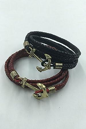 Generic Tendance Style Marine Ancre Tresses tissé à la Main à la Main  Chaîne Bracelet Bracelet
