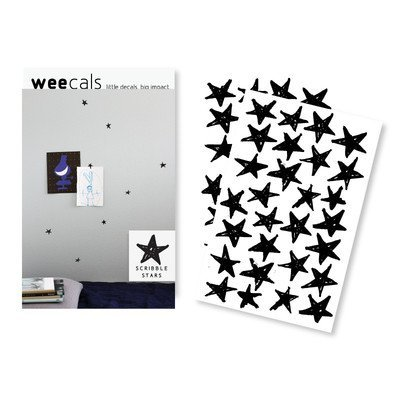 (Wee Gallery, WeeCals, Decorative Wall Decals - Scribble Stars)
