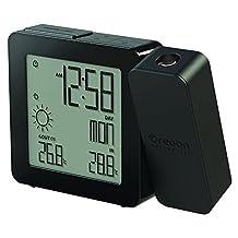 Oregon Scientific BAR368PA Weather Forecaster, Dual Alarm, Indoor-Outdoor Thermo Projection Atomic Clock, Black by Oregon Scientific