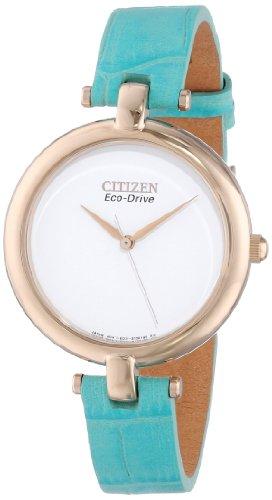 Citizen EM0253 20A Silhouette Gold Tone Leather