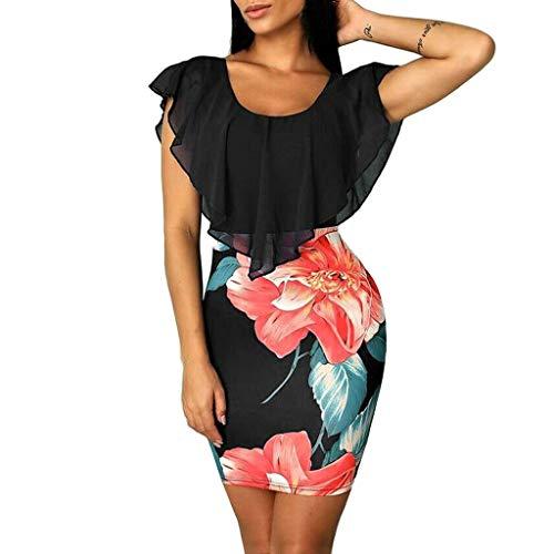 HebeTop Sleeveless Summer Flared Casual Dresses for Women, Vintage Dresses, Evening Bodycon Mini Dress Sundress
