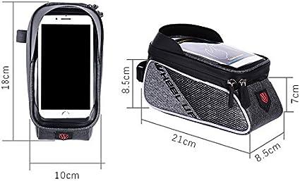 Wasserdicht Bike Top Tube Bag Cycling Frontrahmen Tasche Handyhalter f/ür Smartphones Unter 6,0 Zoll mit Sonnenblende Betuy Fahrradrahmen Tasche