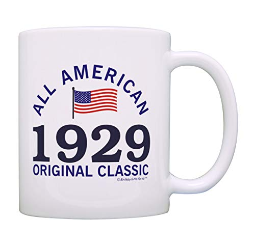 90th Birthday Gifts For All 1929 All American Classic Patriotic Gift Coffee Mug Tea Cup White]()