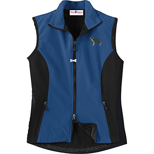 Border Collie Ladies' High Tec Vest, Bone Zipper Pull and Embroidered image