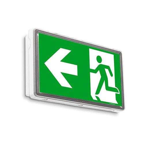 IP 65 –  Lá mpara LED de emergencia iluminació n de emergencia Exit salida de emergencia ext –  Luz de emergencia huir ví a MT