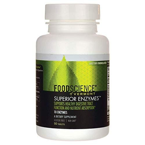 FoodScience of Vermont Superior Enzymes, Digestive Health Support, 90 Tablets