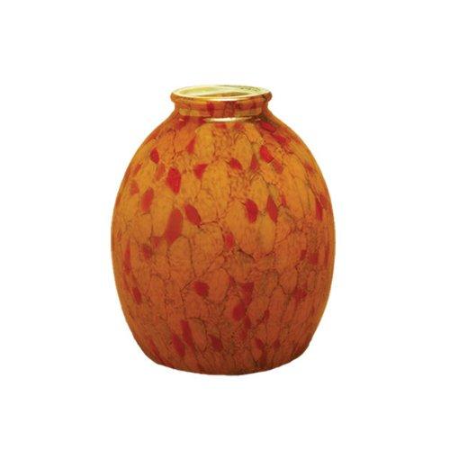 Orange Glass Shade - Millennium Lighting G-126 Orange Art Glass Shade, Orange Art