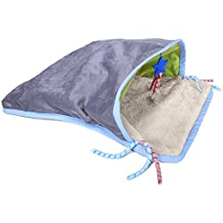 SmartyKat Cave Crawl Crinkle Sack Cat Toy, Gray