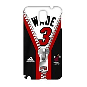 Angl 3D Case Cover NBA Miami Heat Wade Phone Case for Samsung Galaxy Note3