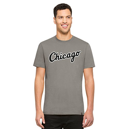 '47 MLB Chicago White Sox Men's Crosstown MVP Tee, Wolf Grey, (Chicago Sox T-shirt)