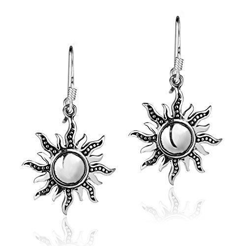 Dancing Mystical Sunshine .925 Sterling Silver Dangle Earrings