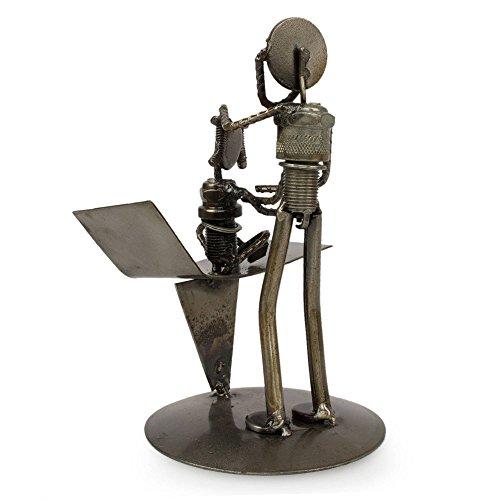 NOVICA 124745 Rustic Pediatrician s Appointment Iron Statuette