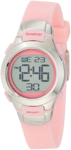 (Armitron Sport Women's 45/7012PNK Chronograph Pink Digital Watch)