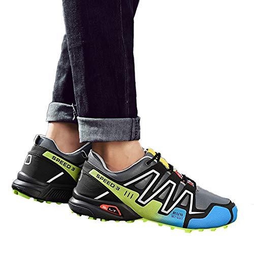 Chaussures Cool De Sport Air En Dcontracte Basket Lettres Mode drapantes Course ball Falaiduo Couture Multicolores Gris Street Hommes Anti Lacer Pour Plein B8zBdZwq
