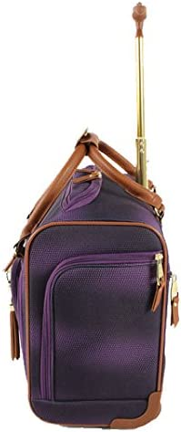Steve Madden Luggage Wheeled Suitcase Under Seat Bag Shadow Purple