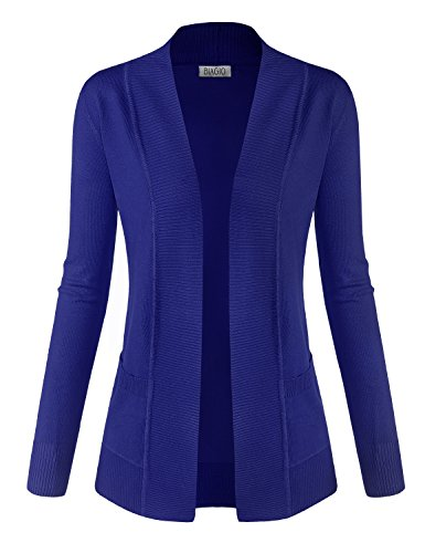 BIADANI Women Classic Soft Long Sleeve Open Front Cardigan