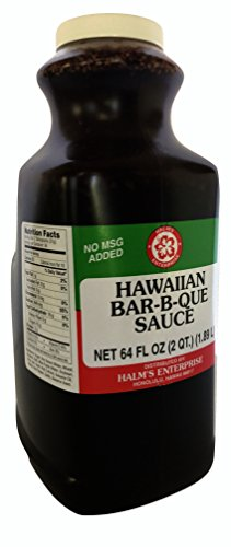 Halm's Hawaiian BBQ Bar-B-Que Sauce 64 Ounce Bottle