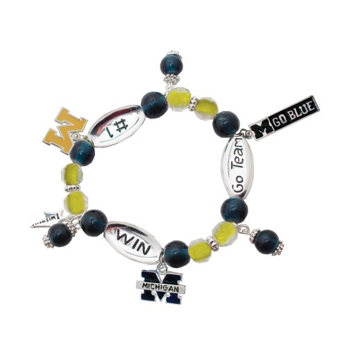 Michigan Wolverines #1 Win Sport Wishing Charm (Michigan Wolverines School Charm)