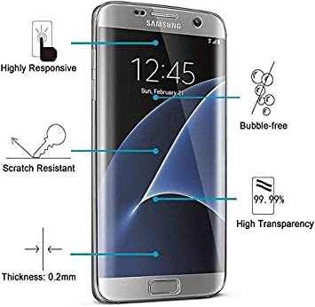Kohinshitsu Galaxy S7 Edge Screen Protector Full 3D Screen Coverage Anti-Glare Anti-Bubble HD Clear PET Screen Protector For Samsung Galaxy S7 Edge Mobile Accessories at amazon