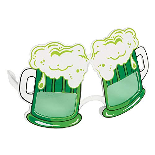 Amscan 250914 Green Beer Glasses St Patrick's Day