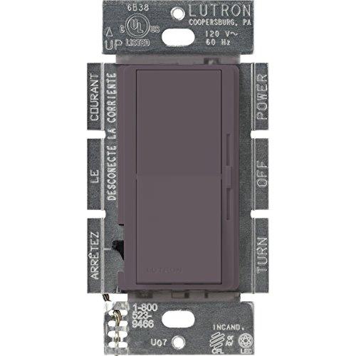 Lutron DVSCCL-253P-PL Diva 250-watt Single Pole/3-Way CFL/LED Dimmer, Plum