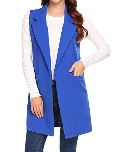 Showyoo-Womens-Long-Sleeveless-Duster-Trench-Vest-Casual-Lapel-Blazer-Jacket