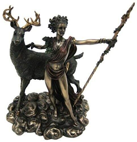 Ky & Co YesKela 10.25 Inch Greek Goddess Diana Artemis and Moon Statue Figurine ()