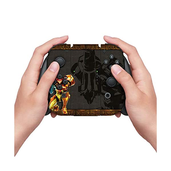"Controller Gear Officially Licensed Nintendo Switch Skin & Screen Protector Set - Metroid - ""Samus"" - Nintendo Switch 3"