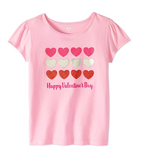 (Sparkle Valentines Day Toddler Tshirt (2T, Pink)