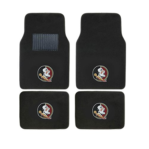 (Collegiate FLORIDASTATE New Carpet Type Floor Mat Liner. Wow! Florida State Logo On All 4 Mats)