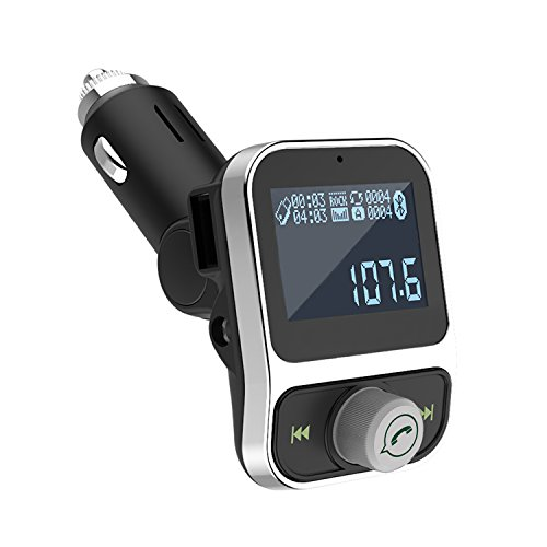 Zinger Bluetooth FM Transmitter Wireless In-Car FM Radio Transmitter Adapter Car Kit W USB Charger by Zinger