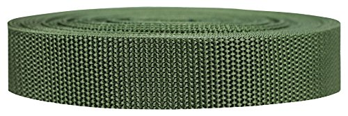 (Strapworks Heavyweight Polypropylene Webbing - Heavy Duty Poly Strapping for Outdoor DIY Gear Repair, 1 Inch x 25 Yards - Olive Drab)