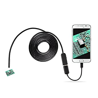 7.0mm Android Endoscope OTG Micro USB Endoscope Waterproof Borescopes Inspection Camera with 6 LED and 3.5M Cable: Amazon.com: Industrial & Scientific