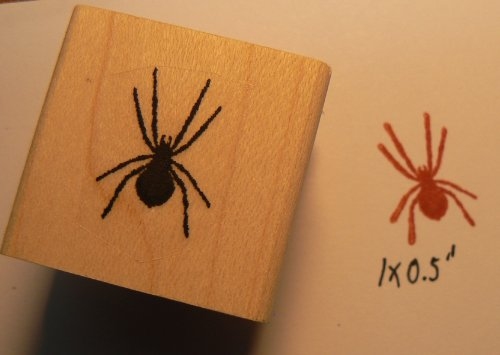 3 spider rubber stamps actual sizes WM P14 -