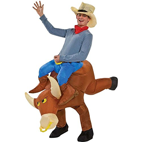 Seasonblow Inflatable Adult Ride on Cow Bull Ox Costume Halloween Party Birthday Cosplay
