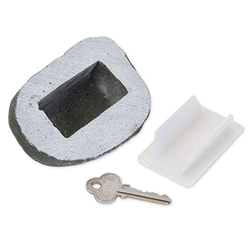 Bits and Pieces - Weather Resistant Hide-A-Key Stone Safe Gadget - Fake Rock for Spare Key Hider or Other Small ()