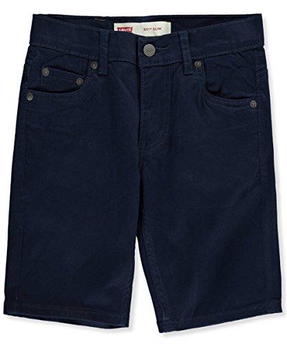 Levi's Big Boys' 511 Slim Fit Soft Brushed Shorts, Dress Blues,