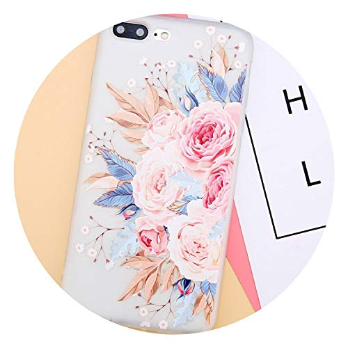 Phone Case for iPhone X 8 7 6 6s Plus Colorful 3D Relief Rose Flowers Ultra Slim Soft TPU Back Cover Cases for iPhone 8,T1,for iPhone 8 - Plus Intrinsically Safe