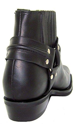Meuleuses Renegade Lo unisexe noir Boots en cuir Cowboy Western motard bottines