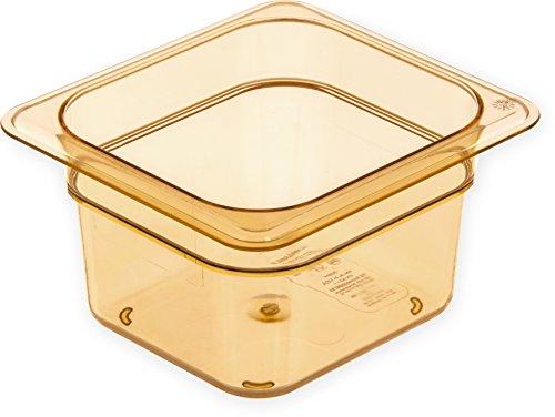 Carlisle 3088413 StorPlus High Heat Food Pan, 4'' Deep, Sixth Size, Amber by Carlisle