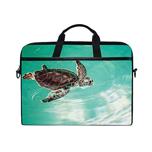 Messenger Fits Bennigiry inch Colorful 15 Laptop Turtle Bag Briefcase Coral Reef 4 Fish 15 Canvas Bag Sea Shoulder wzxqgUA