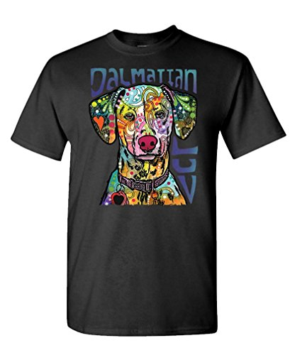Dalmatian Fireman Dog (The Goozler - Dalmatian Luv - fireman dog - Dean Russo - Mens Cotton T-Shirt, S, Black)
