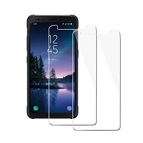 "[2 Pack] ""Galaxy S8 Active"" (Not Fit For Galaxy S8 / S8 Plus) Screen Protector, Zeesa Tempered Glass for ""Samsung Galaxy S8 Active"" – [2.5D] [9H Hardness] [Premium Clarity]"