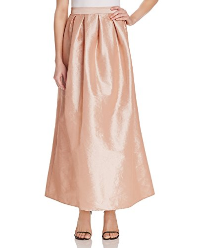 Stretch Taffeta Skirt (Marina Women's Long Dress Stretch Taffeta Skirt, Blush (Small))