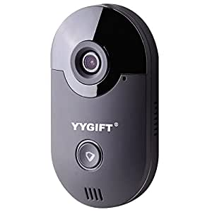 YYGIFT Smart Video WiFi Doorbell Remote Access See Who's At the Door & Say Hello From Anywhere in the World 10M Night Vision Free iOS and Android App 2.5mm Lens 135 Degree View Angle