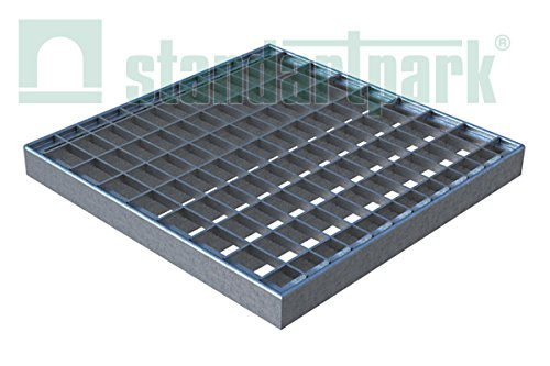 Standartpark Galvanized Stamped Steel Grating for use with 12x12 Catch Basin Grate
