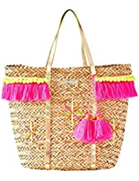 Natural Straw Baja Tote