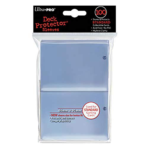 Konami - Ultra Pro Sleeves | Standard Card Deck Protectors | Pack of 100 | Clear -